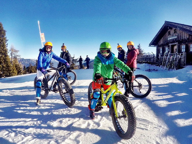 With the Fatbike on the Hochwurzen