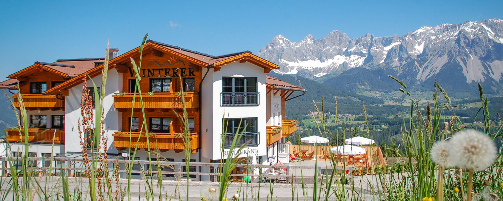 Summer resort in the Hotel Winterer with panoramic views of the Dachstein