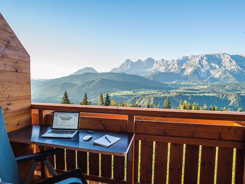Office in the mountains at Hotel Winterer