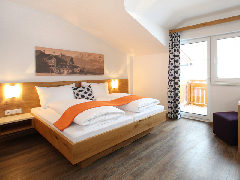 Spacious bedroom in the family room at Hotel Winterer